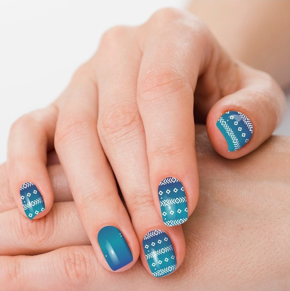 Abilene Blue Aztec Polish Strips - Sister Tribe Boutique