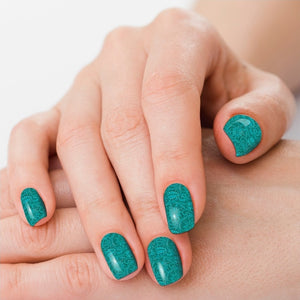 Saddle Up*Teal Tooled Nail Polish Strips - Sister Tribe Boutique