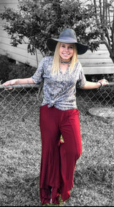 Wine Paltrow Pants - Sister Tribe Boutique