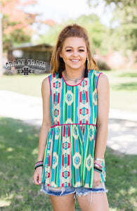 Thirsty Thursday Aztec Tank - Sister Tribe Boutique