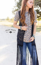 Load image into Gallery viewer, Black Aztec Lace Fringe Vest - Sister Tribe Boutique