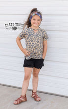 Load image into Gallery viewer, Kids Black Fringe Shorts - Sister Tribe Boutique