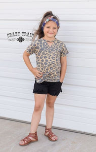 Kids Black Fringe Shorts - Sister Tribe Boutique