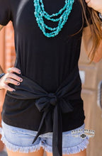 Load image into Gallery viewer, Black Bow Tie Top - Sister Tribe Boutique