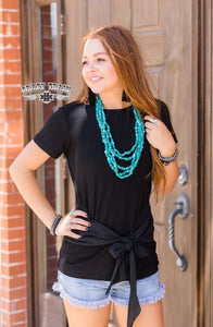 Black Bow Tie Top - Sister Tribe Boutique