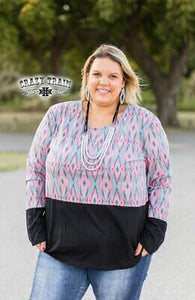 Cowpuncher Aztec Top - Sister Tribe Boutique