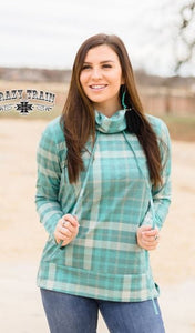Cuddle Up Plaid Hoodie - Sister Tribe Boutique