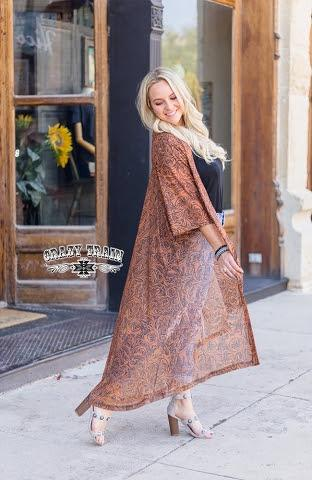 Lonestar Leather Tooled Duster - Sister Tribe Boutique