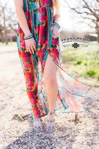 Floral Falls Lace Maxi Dress - Sister Tribe Boutique