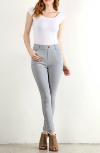 Light Grey Jeggings - Sister Tribe Boutique
