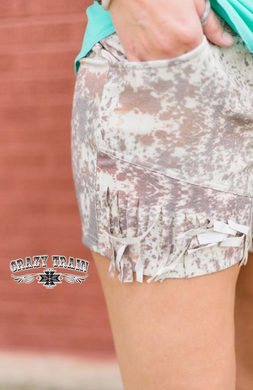Howdy Hide Shorts - Sister Tribe Boutique