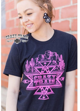 Crazy Train Tee * pink & black * - Sister Tribe Boutique