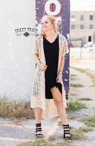 Cream Albuquerque Duster - Sister Tribe Boutique