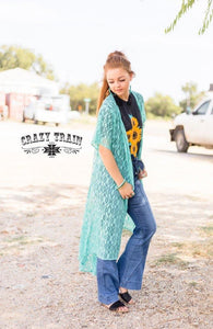 Turquoise Albuquerque Duster - Sister Tribe Boutique