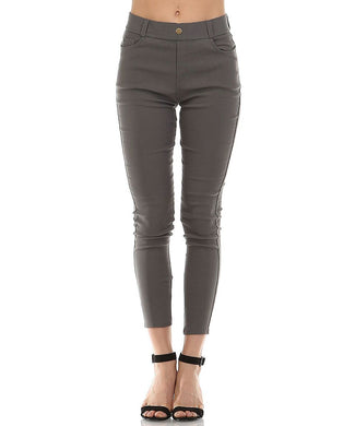 Dark Grey Jeggings - Sister Tribe Boutique