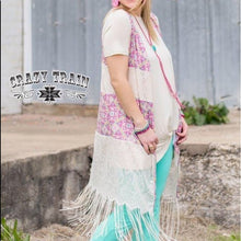 Load image into Gallery viewer, Mexican Tile Fringe Vest - Sister Tribe Boutique