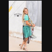 Load image into Gallery viewer, Sunflower Fringe Vest - Sister Tribe Boutique