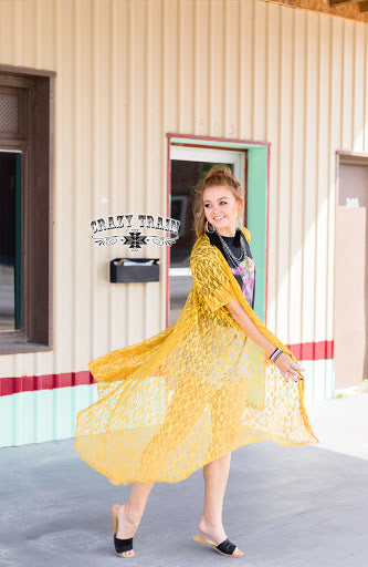 Mustard Albuquerque Duster - Sister Tribe Boutique