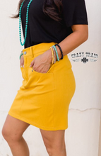 Load image into Gallery viewer, Mustard Law Maker Skirt - Sister Tribe Boutique