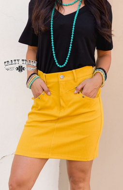 Mustard Law Maker Skirt - Sister Tribe Boutique