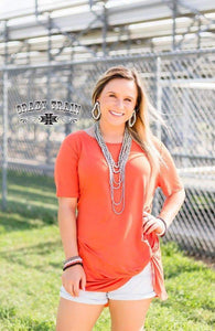 Orange Knot Top - Sister Tribe Boutique