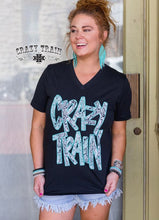 Load image into Gallery viewer, Crazy Train Black Python Tee - Sister Tribe Boutique
