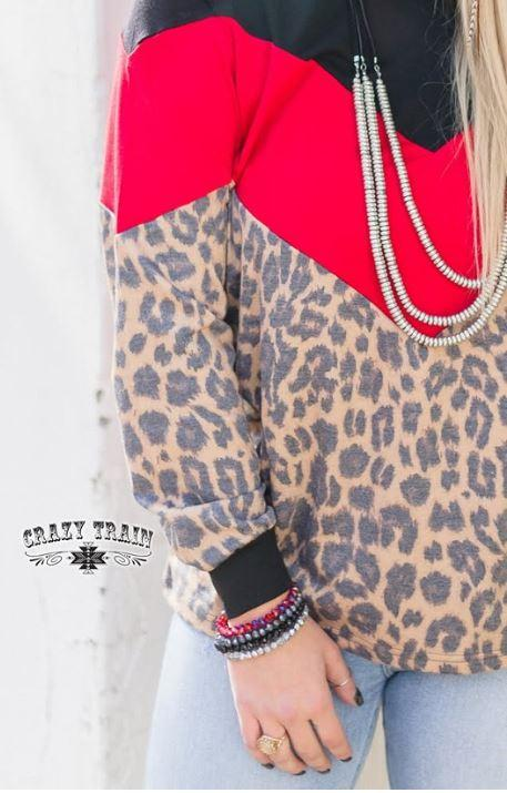 The Block Top Red Crazy Train Clothing Crazy Train