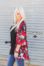 Load image into Gallery viewer, Red Rose Kimono - Sister Tribe Boutique