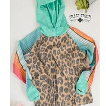 Load image into Gallery viewer, Kids Serape Leopard Hoodie - Sister Tribe Boutique
