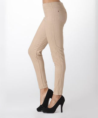 Tan Jeggings - Sister Tribe Boutique
