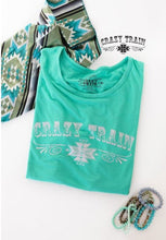 Load image into Gallery viewer, Teal Loco Lady Crazy Train Tee - Sister Tribe Boutique
