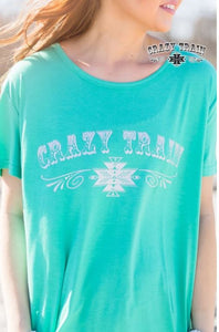 Teal Loco Lady Crazy Train Tee - Sister Tribe Boutique
