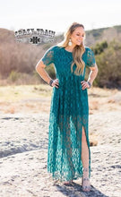 Load image into Gallery viewer, Teal Rayanne Lace Maxi Dress - Sister Tribe Boutique