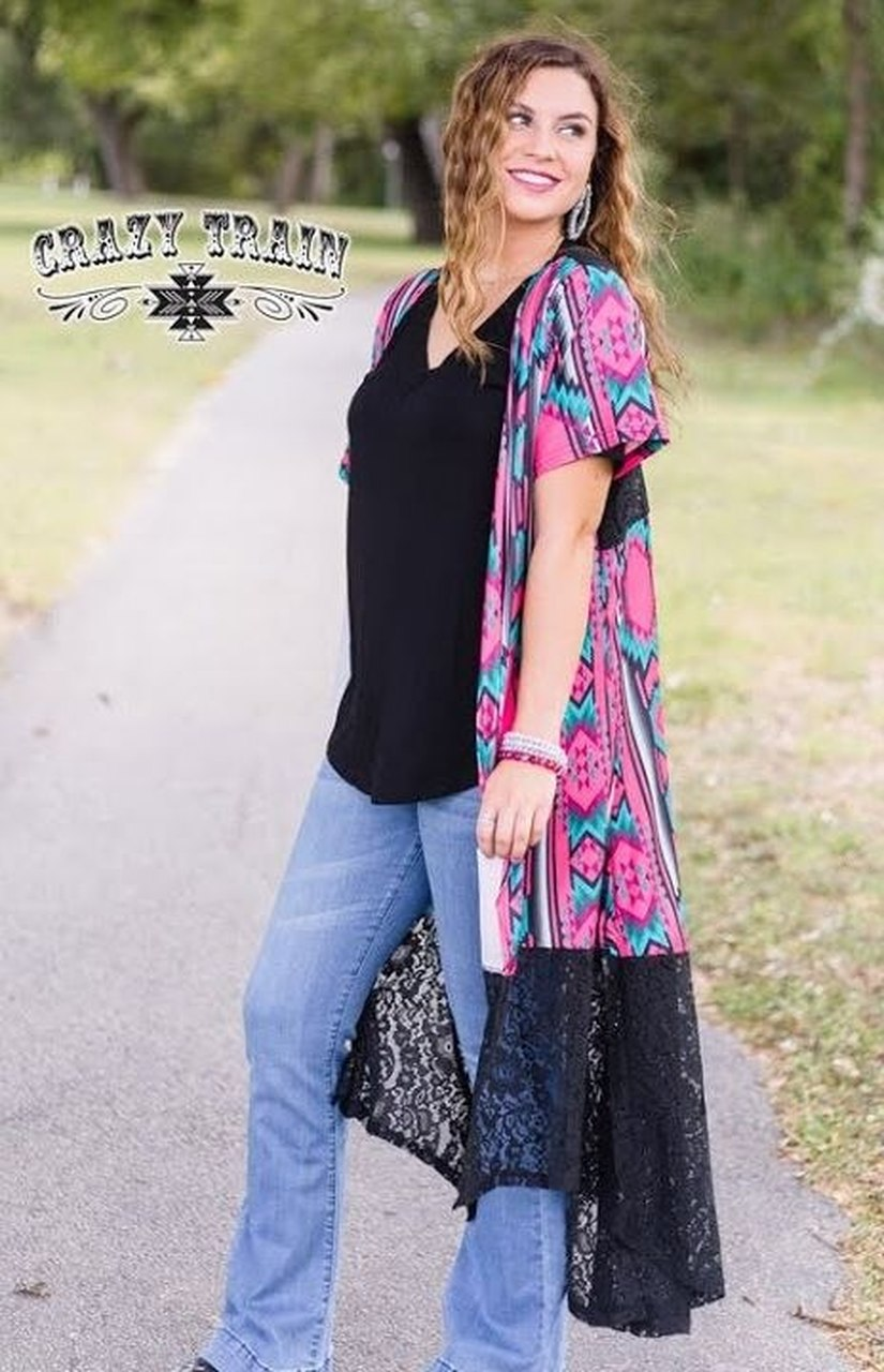 Westward Wonder Aztec Duster - Sister Tribe Boutique