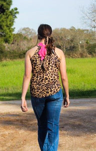 Pink Kelly Wild Bow Tank - Sister Tribe Boutique