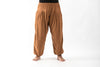 Plus Size Genie Women's Cotton Harem Pants in Brown