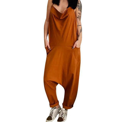 Sarouel Salopette Femme Chic Orange