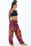 Peacock Elephant Women's Elephant Pants in Red