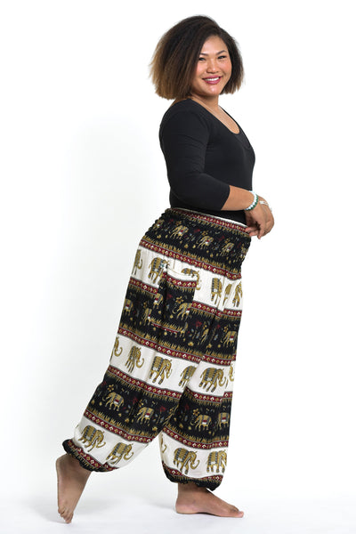 Plus Size Elephant Bliss Women's Elephant Pants in Black