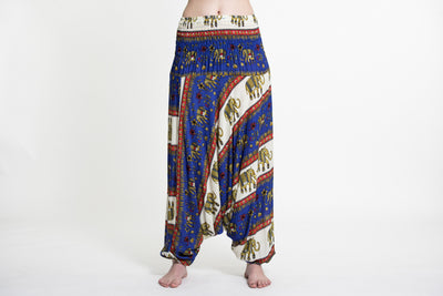 Elephant Bliss Jumpsuit Elephant Pants in Blue