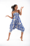 Imperial Elephant Jumpsuit Elephant Pants in Blue