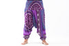 Plus Size Tribal Chakras  Drop Crotch Women's Harem Pants in Purple