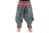 Plus Size Traditional Prints Thai Hill Tribe Fabric Women's Harem Pants with Ankle Straps