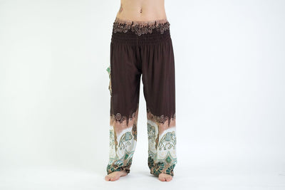 Solid Top Elephant Women's Elephant Pants in Brown