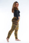 Plus Size Melting Stripes Tie Dye Cotton Leggings in Olive