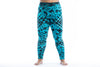 Plus Size Diamond Tie Dye Cotton Leggings in Turquoise