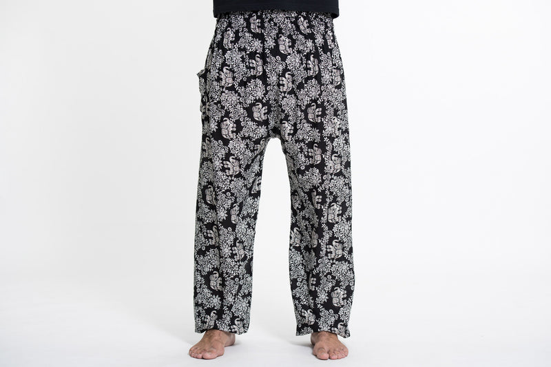 Blooming Elephant Tall Harem Pants in Black