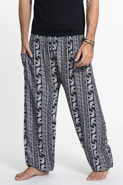 Elephant Paisley Tall Harem Pants in Black