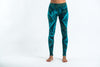 Diamond Tie Dye Cotton Leggings in Turquoise
