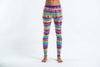 Melting Stripes Tie Dye Cotton Leggings in Sugar Rainbow